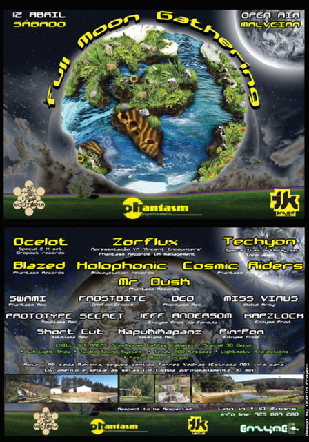 Party Flyer Full Moon Gathering 12 Apr '14, 23:00