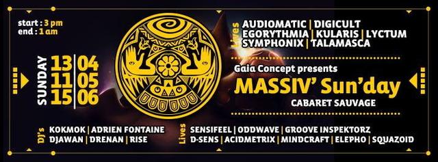 Party Flyer Massiv'sun'day' 13 Apr '14, 15:00