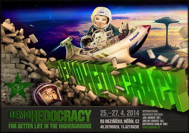 Party Flyer DEMO•HEDO•CRACY 25 Apr '14, 20:00