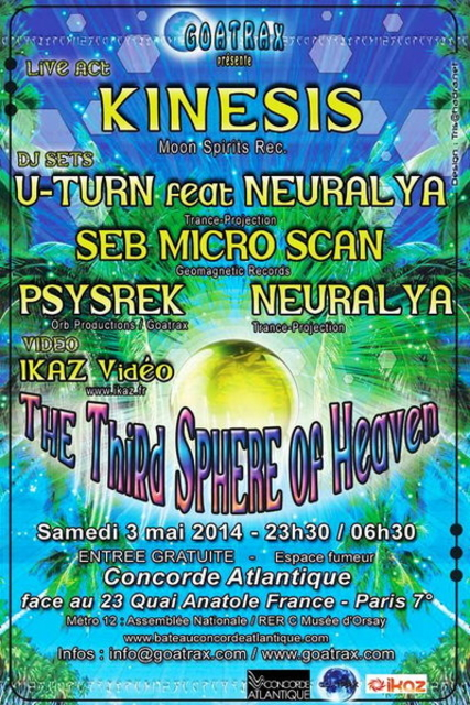 THE THIRD SPHERE OF HEAVEN 3 May '14, 23:30