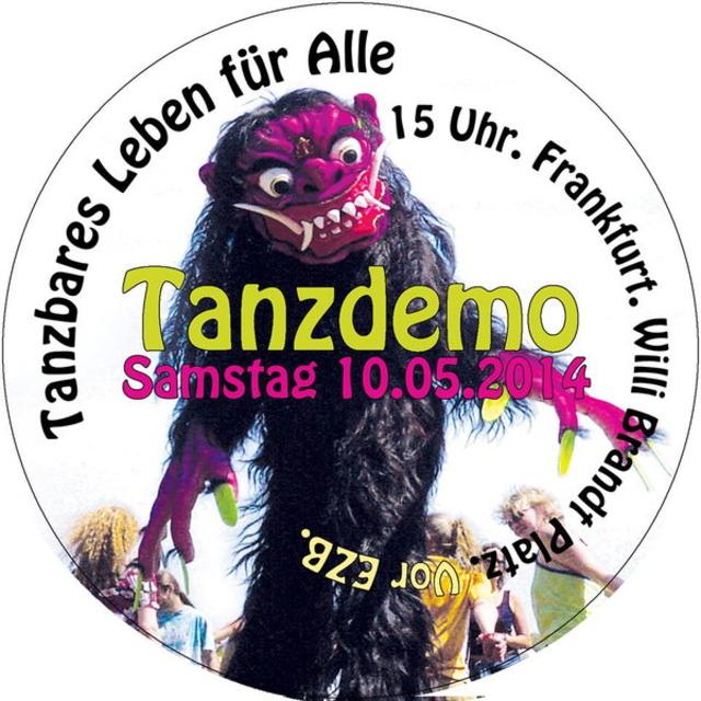 Party Flyer Tanzbares Leben für Alle- Tanzdemo in Frankfurt 10 May '14, 15:00