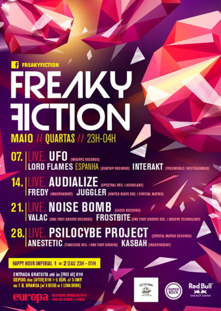 Party Flyer FREAKY FICTION 28 May '14, 23:00