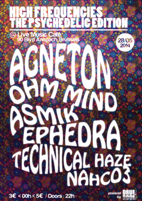 Party Flyer High Frequencies ॐ Psychedelic Edition ॐ 28 May '14, 22:00