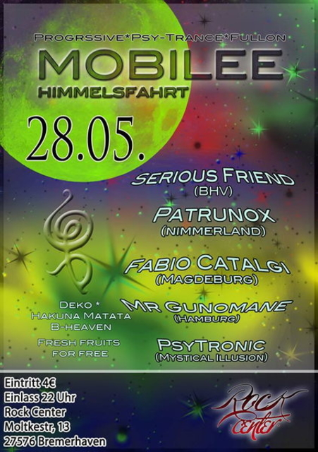 Party Flyer MoBiLeE Himmelsfahrt 28 May '14, 22:00