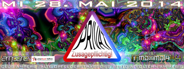 Party Flyer PRIVAT PARTY für ((MAXIMAL4)) Freunde - Club AMPERE in Affoltern am Albis 28 May '14, 23:00