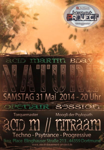 Party Flyer ACiD MARTiN`s Psychedelic B-Day 31 May '14, 20:00