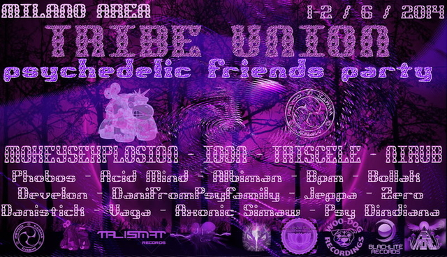 > > > TRIBE UNIT < < < psychedelic friend party 1 Jun '14, 19:00