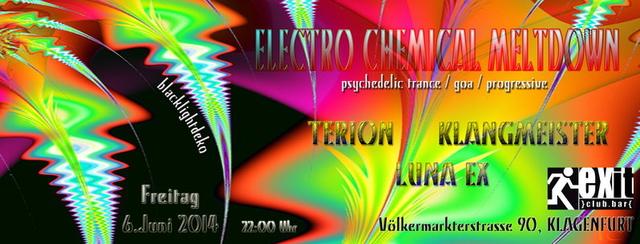 Party Flyer ELECTRO CHEMICAL MELTDOWN 6 Jun '14, 22:00