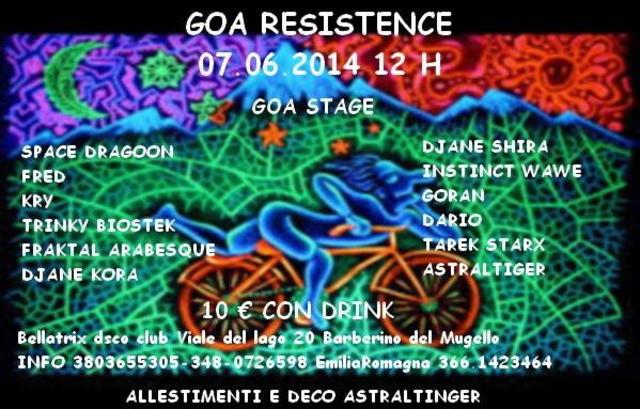 Party Flyer Goa Resistence 7 Jun '14, 22:30