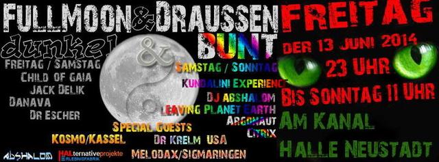 Party Flyer FullMoon & draußen 13 Jun '14, 20:00