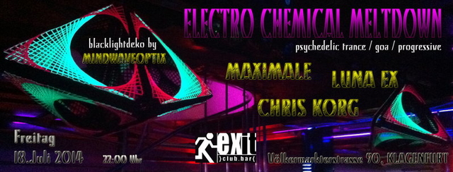 Party Flyer ELECTRO CHEMICAL MELTDOWN 18 Jul '14, 22:00