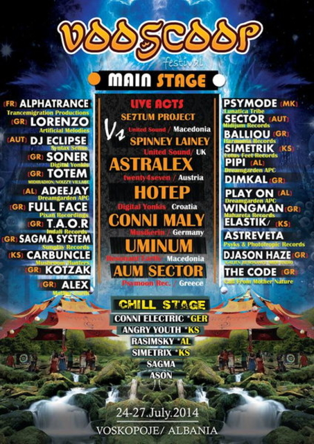 Party Flyer Vooscoop Open Air Festival - Water Element - Fourth Edition 24 Jul '14, 19:30