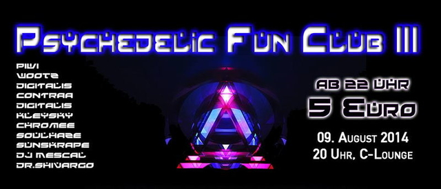 Party Flyer Psychedelic Fun Club III 9 Aug '14, 20:00