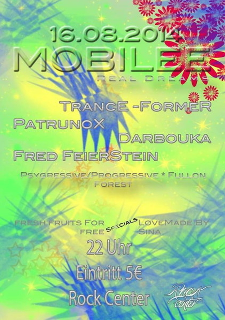 Party Flyer MoBiLeE * real dreams 16 Aug '14, 22:00