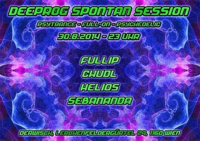 Party Flyer ╰დ╮ॐ Deeprog Spontan Session ॐ╭დ╯ 30 Aug '14, 23:00