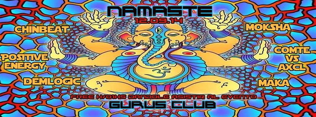 Party Flyer Namaste 12 Sep '14, 23:30