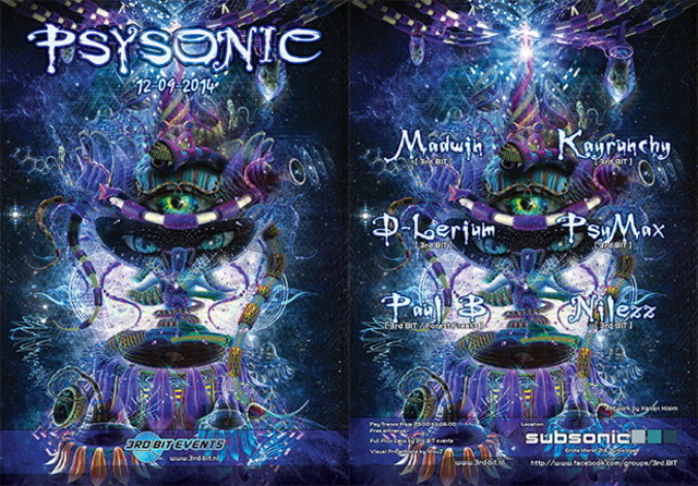 Party Flyer Psysonic 12 Sep '14, 23:00