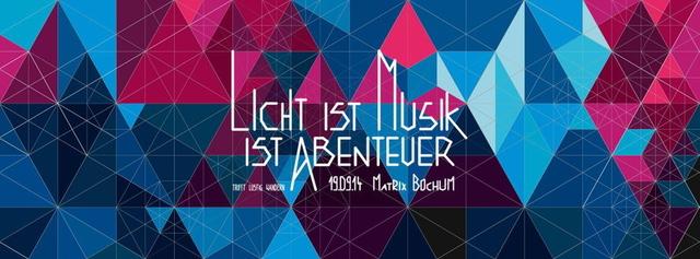 Licht ist Musik ist Abenteuer trifft Lustig Wandern 19 Sep '14, 22:00