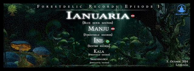 Party Flyer Forestdelic Records Episode 01 4 Oct '14, 22:00