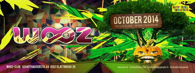 Party Flyer Gladwooz Rising 4 Oct '14, 22:00