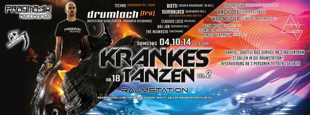 Party Flyer Krankes Tanzen part 2 4 Oct '14, 23:00