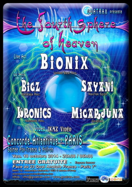 THE FOURTH SPHERE OF HEAVEN 10 Oct '14, 23:30