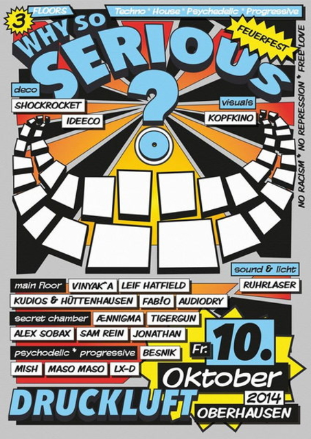 Party Flyer WHY SO SERIOUS? 10 Oct '14, 22:00