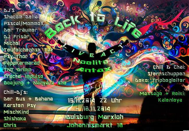 Party Flyer Experience B-Day DJ Frisör (Back to life) 15 Nov '14, 22:00