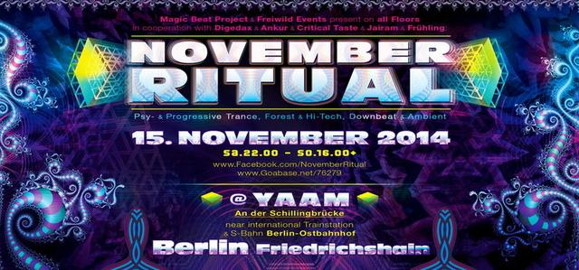 Party Flyer ****NOVEMBER RITUAL**** 2014 ¸.•*¨`*•.♫❤ 15 Nov '14, 22:00