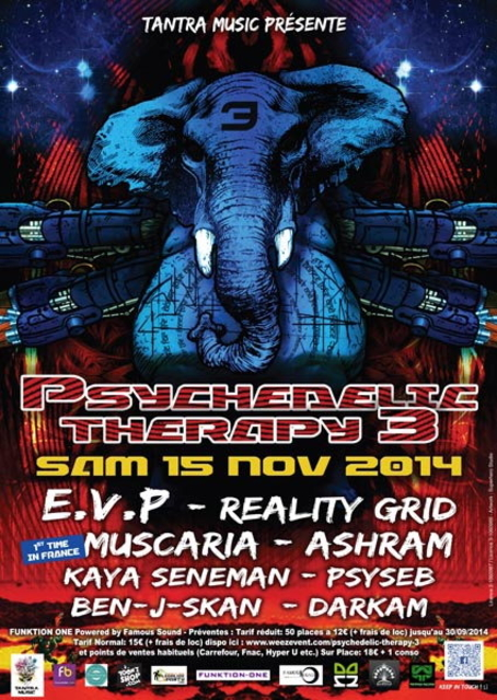 Party Flyer PSYCHEDELIC THERAPY #3 15 Nov '14, 22:00