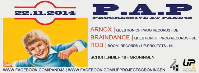 Party Flyer P.A.P // Progressive at Pand48 22 Nov '14, 23:00
