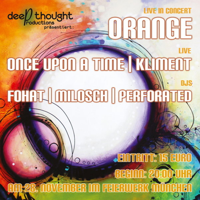 Party Flyer Pachamama Dance ORANGE CD-RELEASE PARTY 28 Nov '14, 20:00