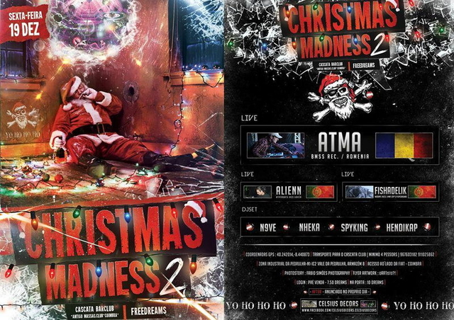 Party Flyer CHRISTMAS MADNESS II 19 Dec '14, 23:30