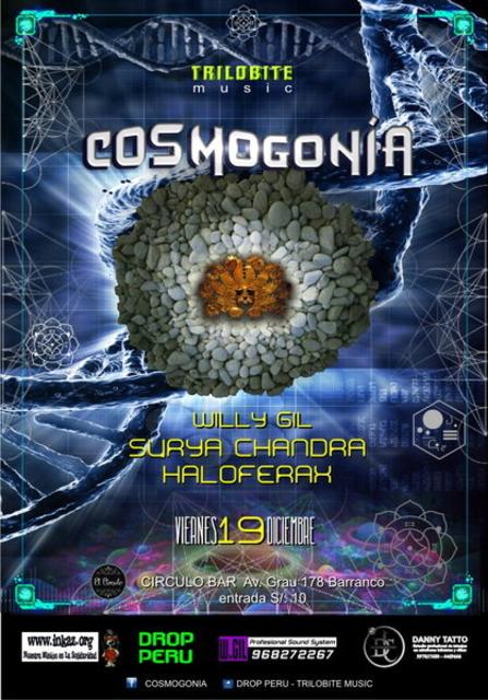 Party Flyer COSMOGONIA 19 Dec '14, 23:00