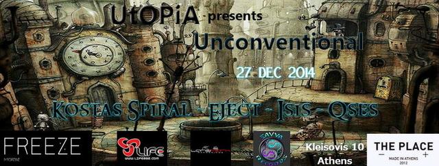 Party Flyer UtOPiA pres./ Unconventional 27 Dec '14, 23:00