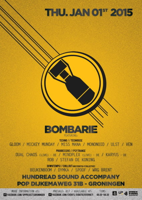 Party Flyer Bombarie 1 Jan '15, 01:00