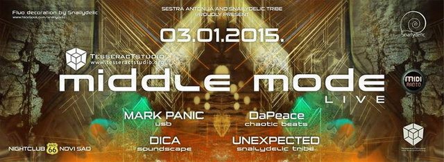 Party Flyer MIDDLE MODE live! 3 Jan '15, 23:00
