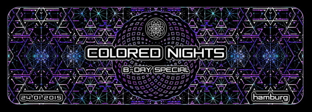Party Flyer ColoredNights Bday Special 24 Jan '15, 22:00