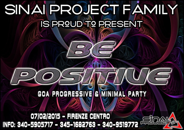 Party Flyer BE POSITIVE 7 Feb '15, 23:00