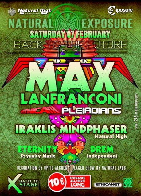 Party Flyer Max Lanfranconi from Etnica-Pleiadians in Athens on Saturday 07 February !!! 7 Feb '15, 23:30