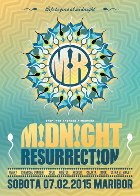 Party Flyer MIDNIGHT RESURRECTION - Reaky's B-Day Madness 7 Feb '15, 22:00