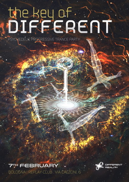 Party Flyer THE KEY OF DIFFERENT by Different Reality 7 Feb '15, 23:00