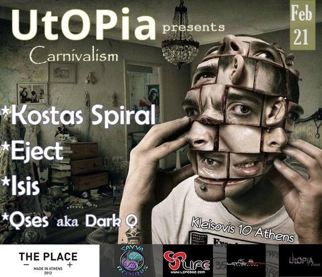 Party Flyer UtOPiA presents Carnivalism 21 Feb '15, 23:00