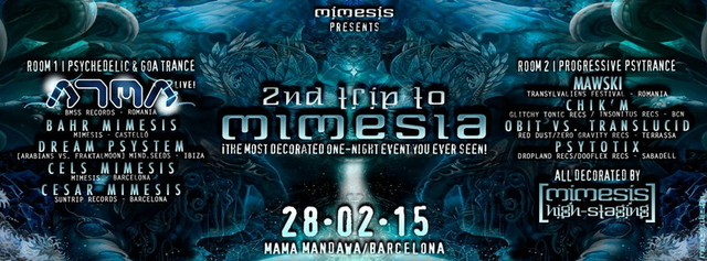 Party Flyer 2nd TRIP TO MIMESIA!! <The most decorated one-night event you ever seen> w/ ATMA 28 Feb '15, 23:00