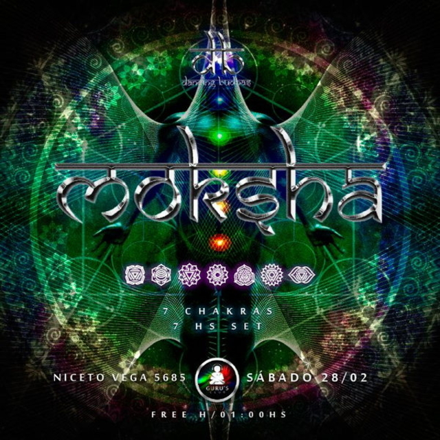 Party Flyer Dancing Budhas presents DJ Moksha 7 Chakras 7hs Set 28 Feb '15, 23:30