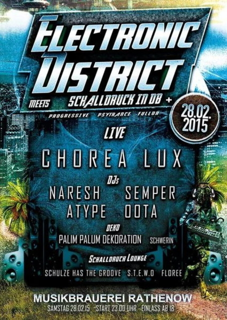 Party Flyer Eletronic District meets Schalldruck in Db+ 28 Feb '15, 23:00