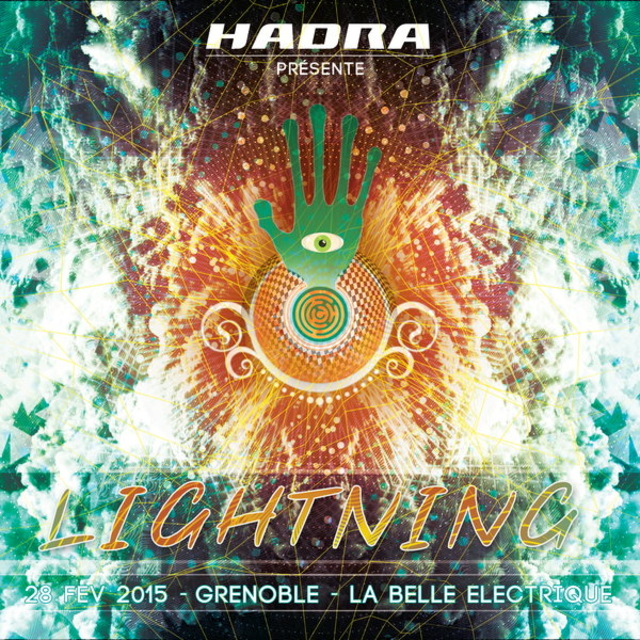 Party Flyer LIGHTNING by Hadra - SOLD OUT 28 Feb '15, 23:00