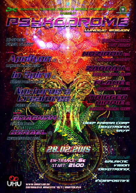 Party Flyer PSYKODROME ॐ☯Ψ●•· [Lunatic Edit] 28 Feb '15, 22:00