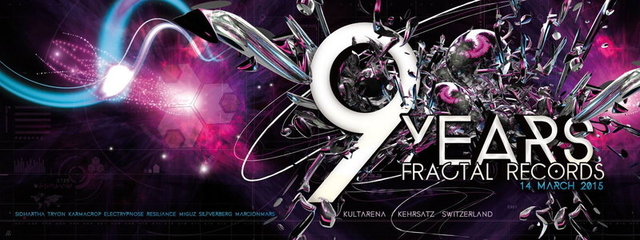 Party Flyer 9 Years Fractal Records 14 Mar '15, 21:00