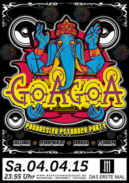 Party Flyer ॐ GoaGoa ॐ 4 Apr '15, 23:30